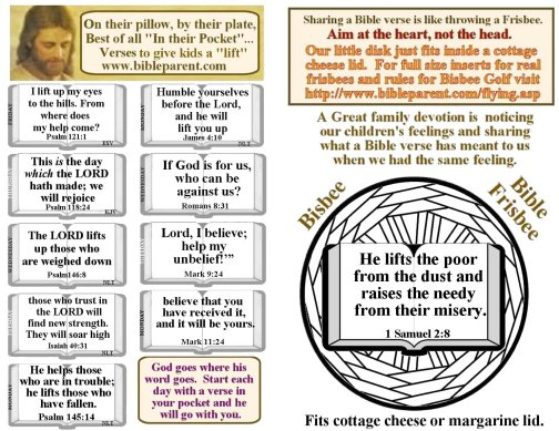 Bible verses for bulletin insert