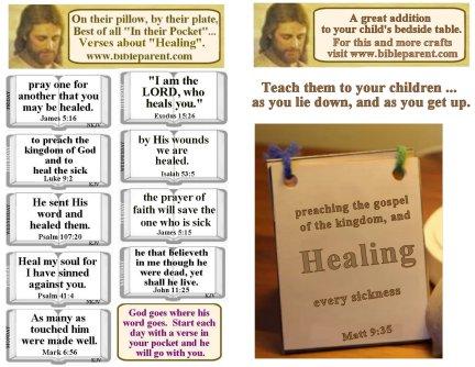 Bulletin Insert healing verses