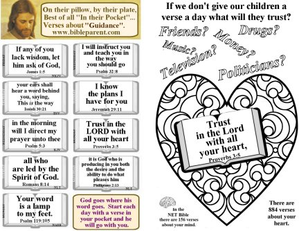 Bulletin Insert with verses about guidance