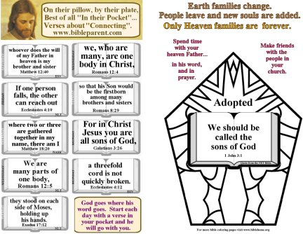 Bulletin Insert with verses about CHURCH