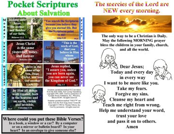 Bulletin Insert with verses about hope