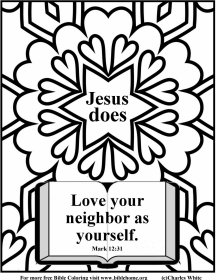 This is an image of Handy Love Thy Neighbor Coloring Pages