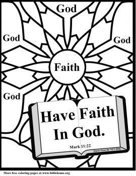Bible coloring true faith