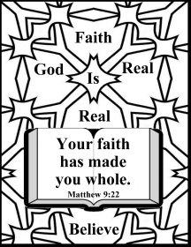 Bible coloring faith 3
