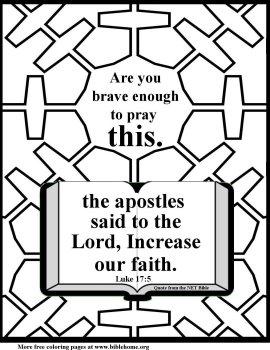 Bible coloring  faith 4