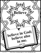 Free Bible coloring pages about