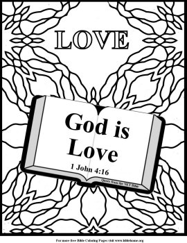 Bible with Coloring Pages - Love Coloring Codes Book | 350x270