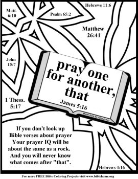 Free Bible Coloring Pages About Prayer