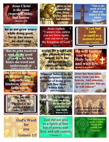 Church Bulletin- God's Promises